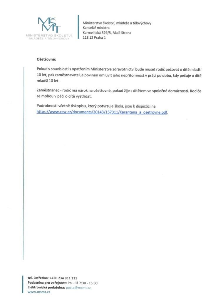 Informace MŠMT 3.strana