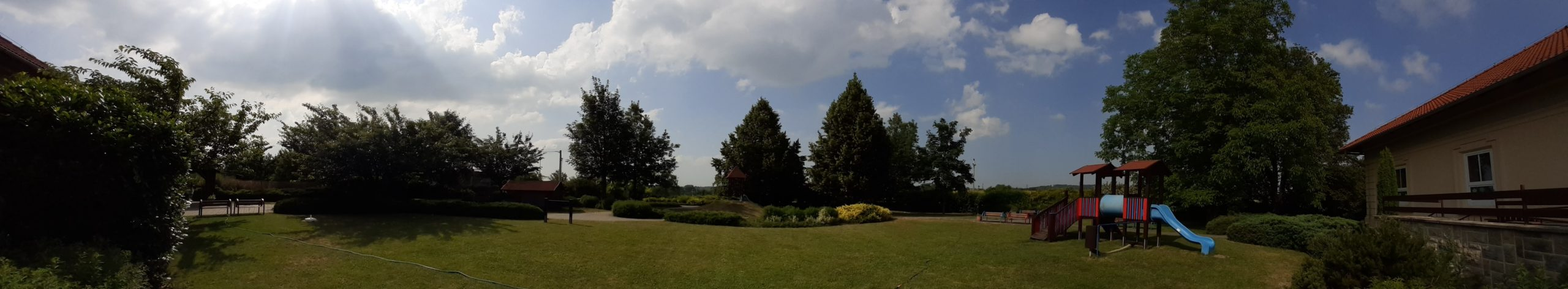 Panorama zahrady